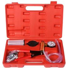 Brake Bleeder Kit &Hand Held Mini Vacuum Pump Kits Tester 2 in 1-Copper Body