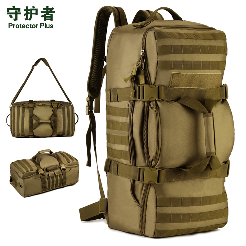 60L Large capacity luggage backpack handbags multi function Outdoor Tactical Rucksack men s bags A3136