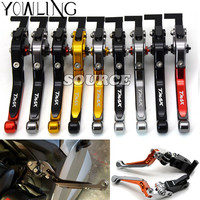 Motorcycle Gold And Titanium Adjustable Motorbike Brake Clutch Lever For Yamaha T Max 530 T Max500