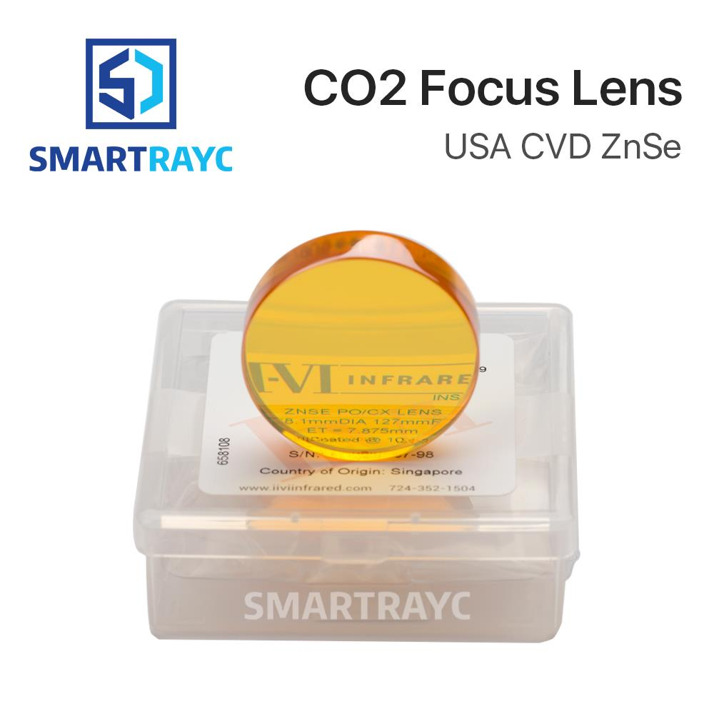 цена на Smartrayc II-VI CVD ZnSe Focus Lens Dia. 38.1mm FL 127 190.5mm 5 7.5 for HAN'S Trumpf Bystronics CO2 Laser Cutting Machine