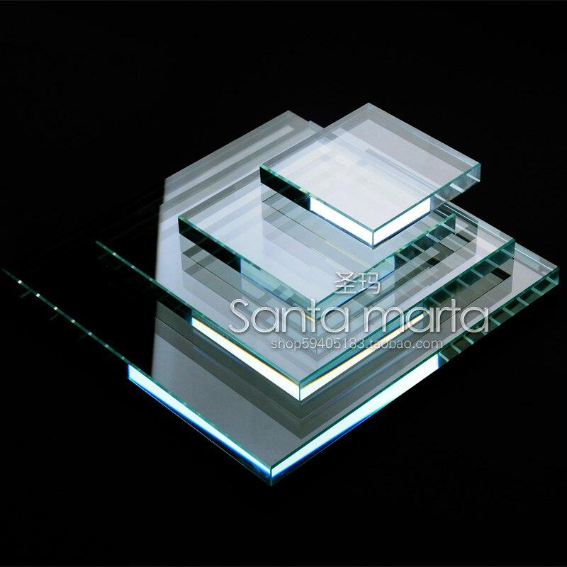 Bijoux En Cristal clair Bloc D'affichage 4 pièces Bijoux Blocs D'affichage Présentoir de Bijoux Bague, Boucles D'oreilles, porte-collier