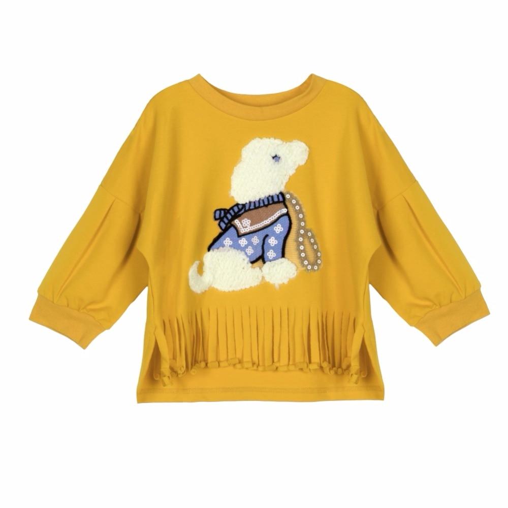ᗜ LjഃBebé Niñas invierno de manga larga ropa niños otoño camiseta ... a39db9e2d6b56