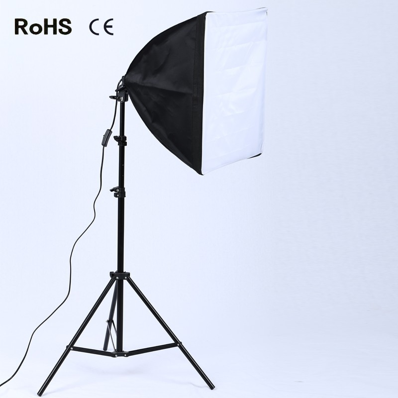 19.7x19.7Soft Box Photography Lighting Kit Lighting System Photo Studio Equipment Photo Model Portraits Shooting Box With Stand