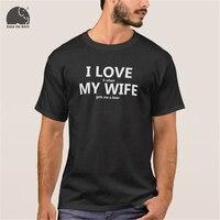 EnjoytheSpirit 2017 Summer T Shirt I Love My Wife FUNNY Beer Humor Shirt Men S Cotton