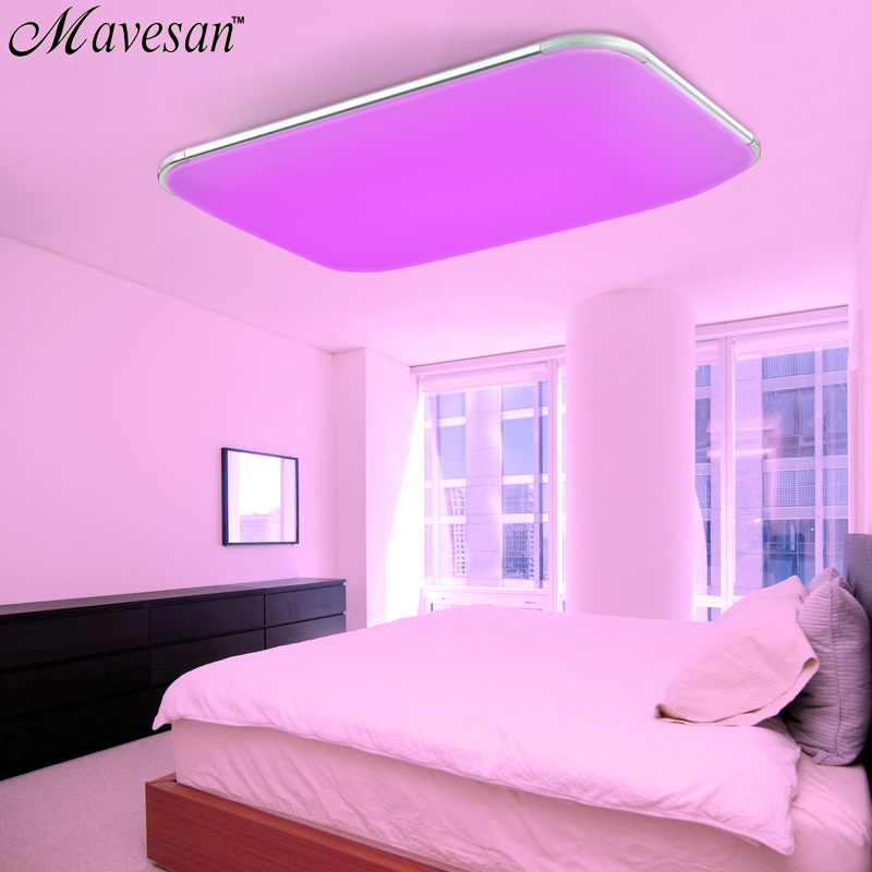 Modern LED Ceiling Lights for living room square lustres plafoniera ...