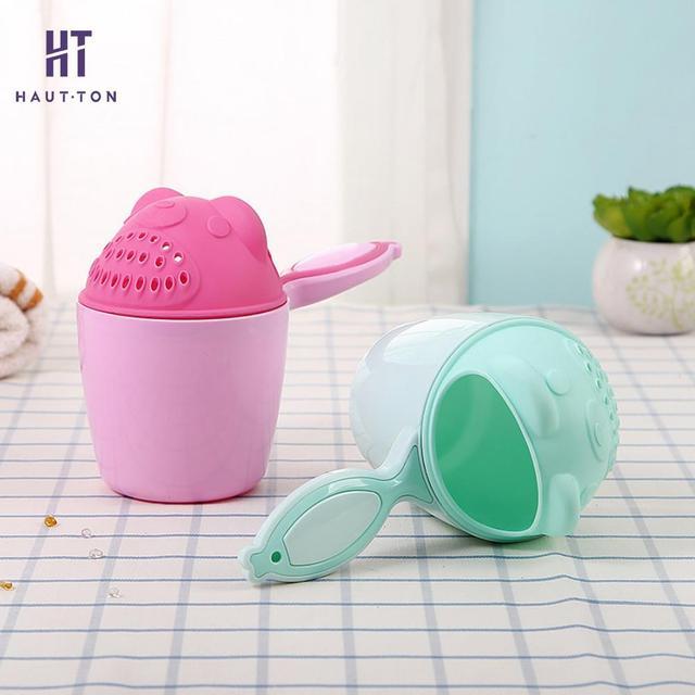 1pcs Cartoon Baby Bath Shampoo Cup Children Bathing Caps Baby Shower Spoons Child Washing Hair Cup Bathroom Accessories G   3