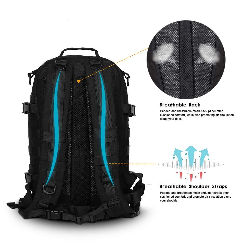 Sac à dos tactique Molle militaire assaut Pack Nylon Trekking sac à dos ordinateur portable sac à bandoulière pour voyager Camping randonnée escalade - 3