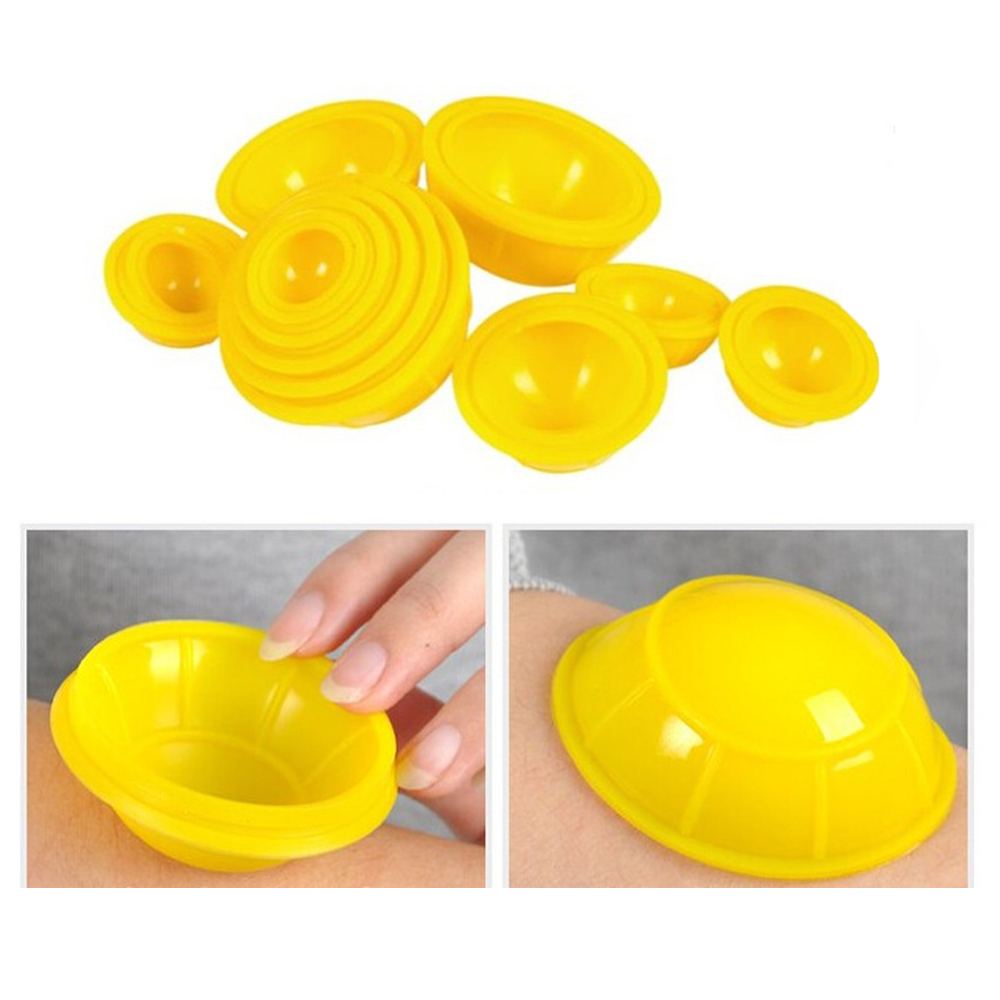 Random Color 12pcs Mini Silicone Travel Medical Vacuum Cupping Cups Health Care  Body Massage Promote Blood Circulation C785