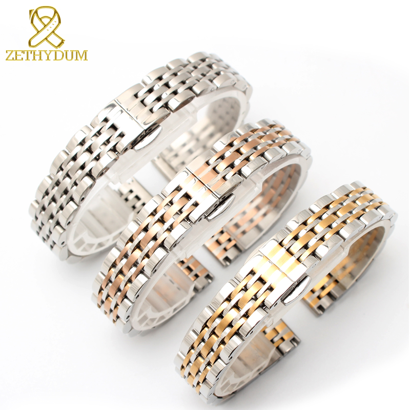Stainless Steel Bracelet Solid Metal Watchband 13 14 15 16 17 18 19 20 21 22mm Watch Strap For AR1819 AR1677 AR1683 AR11110