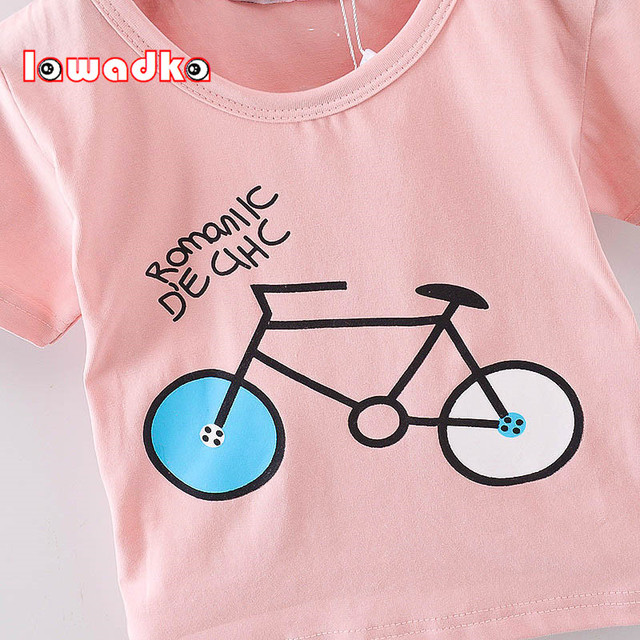 Baby's Bicycle Printed Cotton T-Shirt 5
