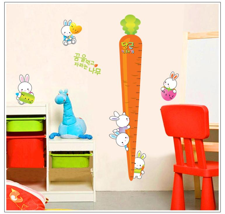 New Rabbit Holding A Carrot Kids Growth Chart Height Measure For