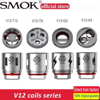 3pcs SMOK V12 Coil Head V12-Q4/V12-X4/V12-T6/V12-T8/V12-T12 0.12/0.15/0.16/0.17ohm 60-350W for TFV12 Tank Atomizer Huge Vapor Electronic Cigarette Atomizer Cores