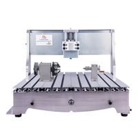 Rotary axis woodworking router machine CNC 6040 frame aluminum metal engraver