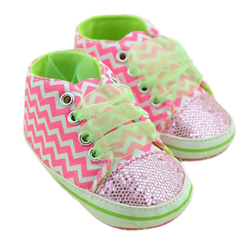 Newborn Boys Girls Striped Sequin Soft Floral Baby Sneakers baby shoes first walker Skid resistance superstar shoes Dropshipping