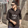 BIG GUY Long Sleeve Black Men Polo Shirts Men 2017 New Spring Casual Polo Shirt Men Plus Size Male Polos 4xl 5xl 6xl 7xl 1548