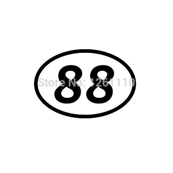 88 ثمانية وثمانين عدد البيضاوي JDM ملصق فينيل سيارة شاحنة الوفير نافذة ملصق مائي دراجة نارية Aufkleber 10 ألوان