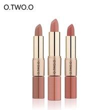 O.TWO.O Lip gloss Matte lipstik 2 in 1 cair Lipstik mudah dipakai Tahan lama Pelembab Tahan Air antilengket cup 12 Warna