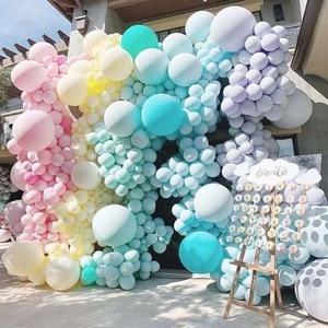 Image 2 - 10 18 36 inch Big Pastel Balloons Baby Shower Decoration Macaroon Ballons Blanc Wedding Birthday Globos Latex Air Balloon S6XZ