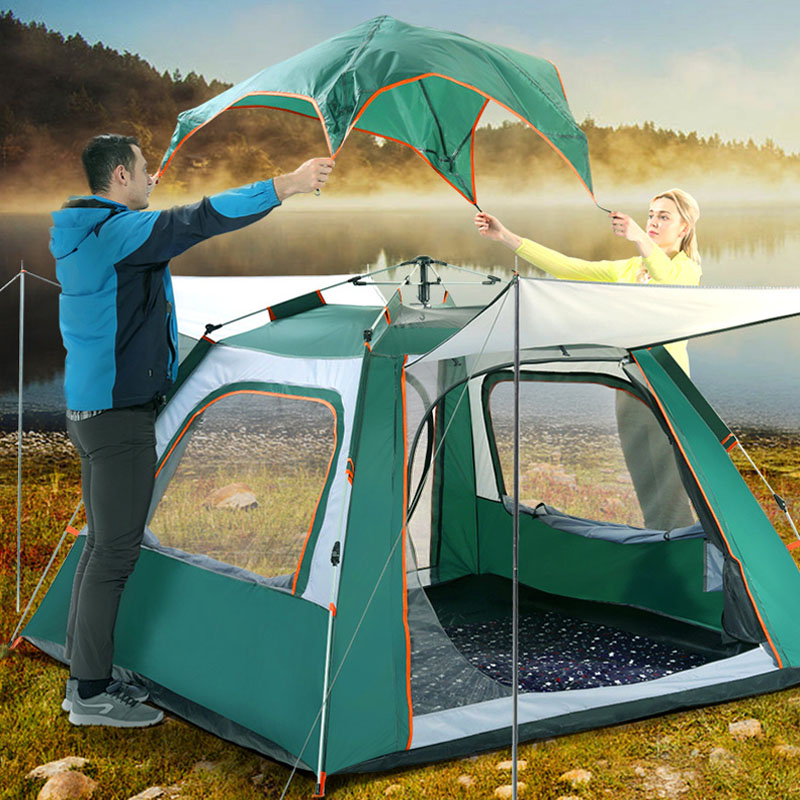5-6Person Major Camping Tents 240*240*140cm Waterproof Automatic Double Layers Hiking Climbing Four sides Ventilation Tent5-6Person Major Camping Tents 240*240*140cm Waterproof Automatic Double Layers Hiking Climbing Four sides Ventilation Tent