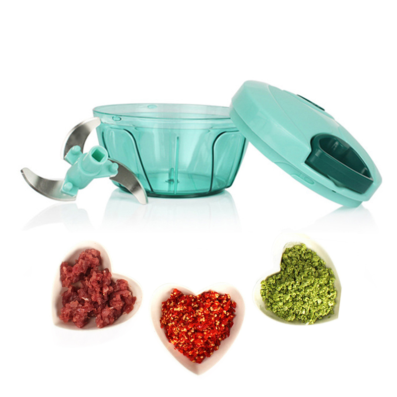 Multi-function Manual Twist Shredder Stainless Steel Vegetable Choppers For Fruit Garlic Cutter Meat Kitchen Gadgets Accessories