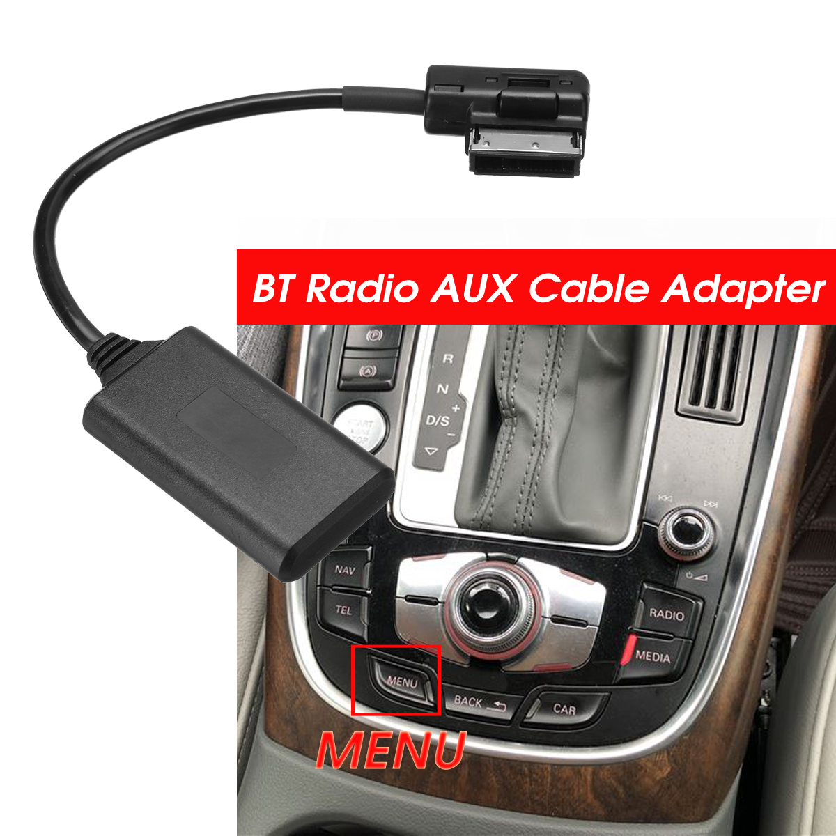 AMI MMI Bluetooth ModuleAdapter Aux Cable Wireless Audio Input Aux Radio Media Interface For Audi Q5 A5 A7 R7 S5 Q7 A6L A8L A4L