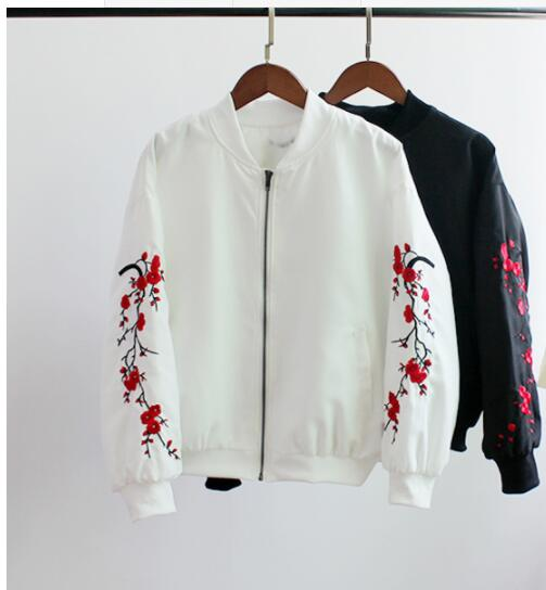 2018 spring and autumn new loose short jacket female embroidered jacket 2017B