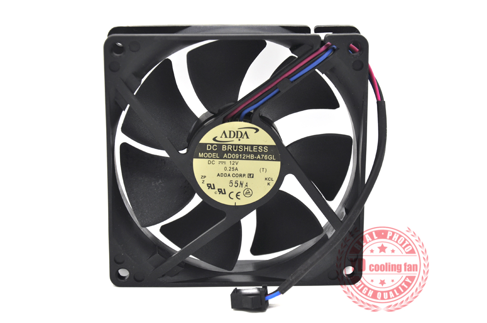 NEW ADDA AD0912HB-A76GL 9025 12V 0.25A 9CM 3PIN Cooling Fan