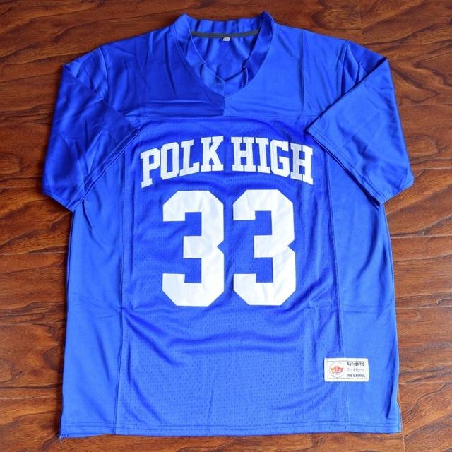 MM MASMIG Al Bundy  33 Polk High Football Jersey Stitched Blue - Married  With Children 67b8dfc8b