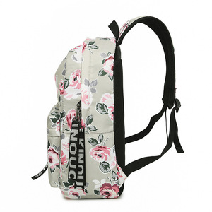 Image 5 - 패션 방수 나일론 여성 배낭 꽃 인쇄 여성 학교 배낭 소녀 일일 대학 노트북 가방