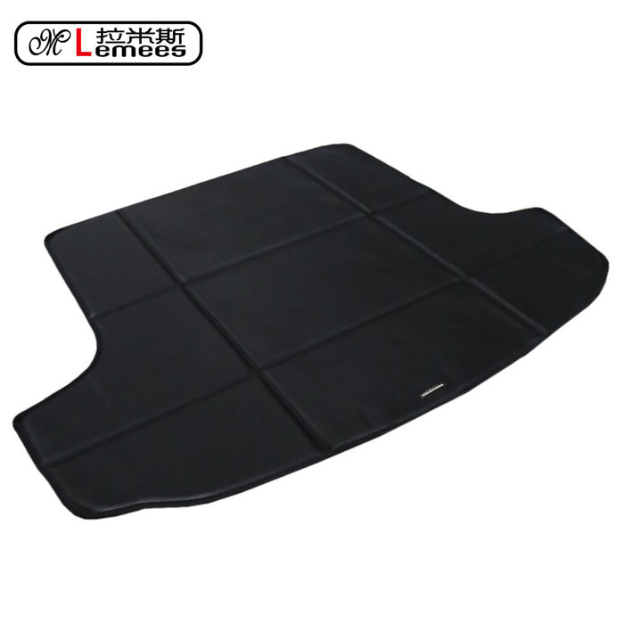 high quality special pu leather car trunk mats suit for Skoda waterproof non slip easy clean carpets
