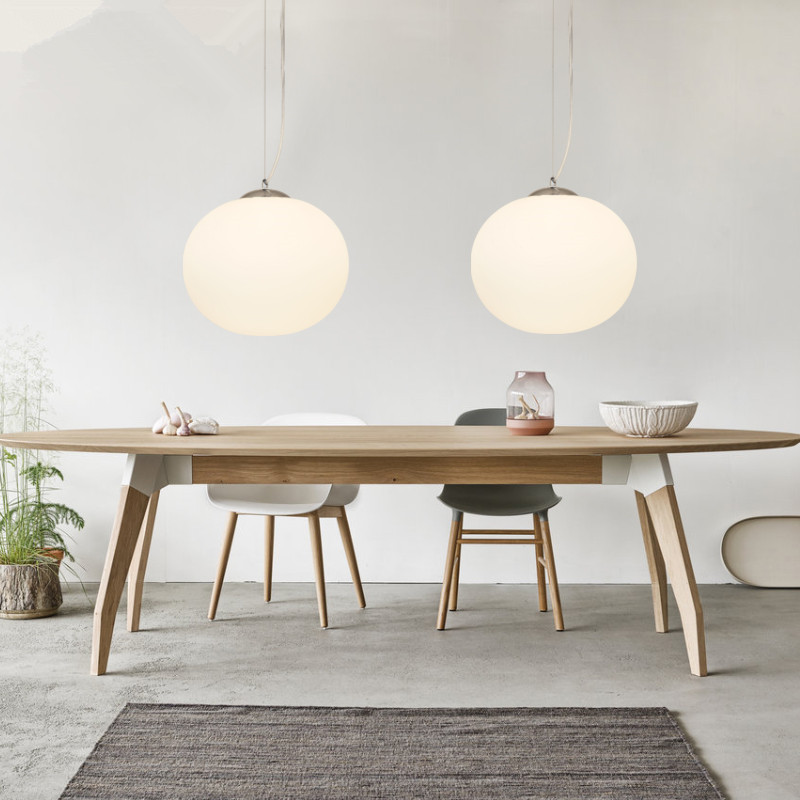 Globe Modern Liontin Cahaya Kaca Lampu Gantung Untuk Dapur Living - Pencahayaan dalam ruangan