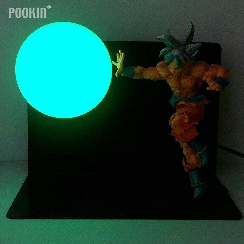 Dragon Ball Son Goku Telecomando Colourful Bombe Luminaria Led Night Light Regalo di Festa Camera Decorativa Ha Condotto L'illuminazione