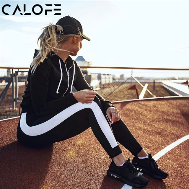 faa2eec4f8d8 2019 Hot Women White Striped Yoga Pants Sport Leggings Running Tights  Leggins Push Up Training Fitness Gym Clothes Workout Pants