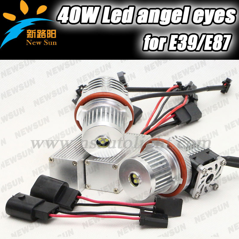 High Power Cree chip 40W LED Marker Angel Eye for BMW E53 X5(04-06) E83 X3(06-07) E39(01-03) LCI (525i,530i,540i) angel eyes led