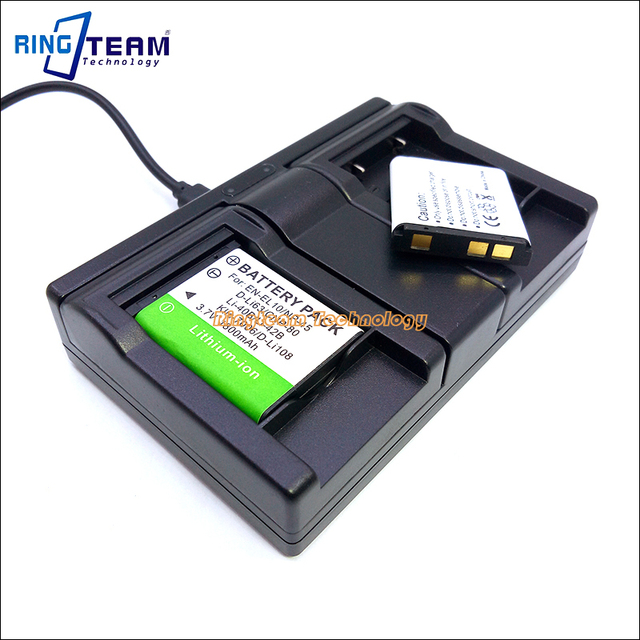 24c0f464ff21 2x CNP-80 NP-Batteria   1x Dual USB Caricabatteria per Casio Fotocamere EX