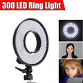 FalconEyes 300 LED Video Ring Light  w/ Diffuser Dimmable 3000K-7000K LED Ring Wonderful Effect for Eyes Light Shadow Less