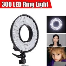FalconEyes 300 LEVOU Anel De Luz De Vídeo w/Difusor Regulável 3000 K-7000 K LED Anel Maravilhoso Efeito para Sombra de olhos de Luz Menos