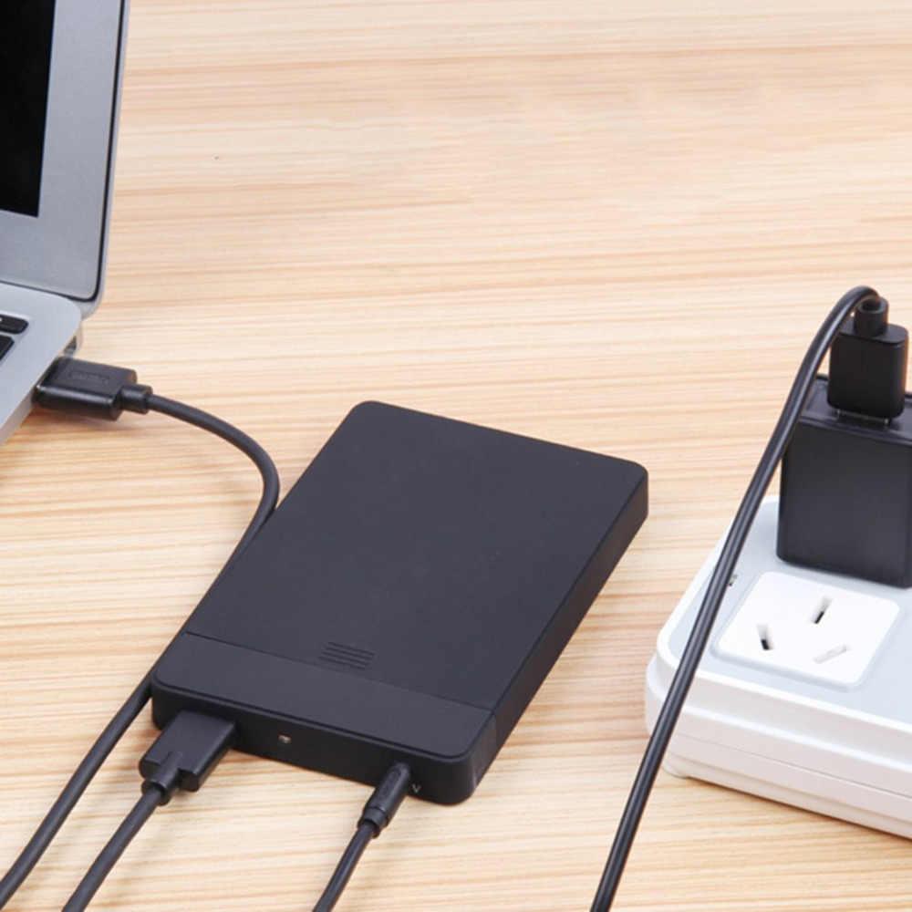80cm USB 2 0 tipo macho 3 5mm CC conector de barril 5V Cable negro al por mayor