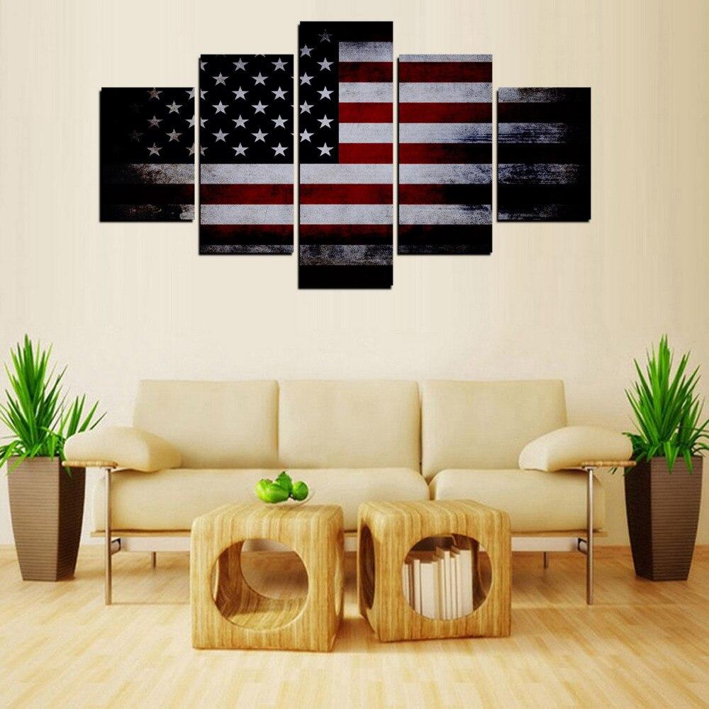 Home Decor Nation: Aliexpress.com : Buy Original Oil Ink 5 Panels Canvas