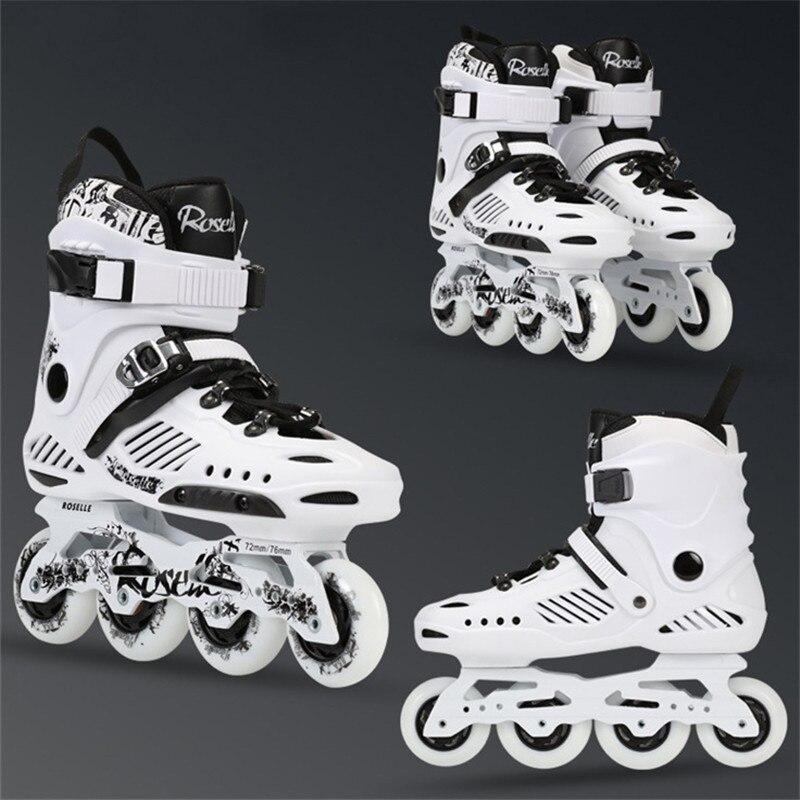 Rollerblade Patins à roulettes hommes femmes chaussures de patinage en ligne de haute qualité Patins de patinage Freestyle coulissant 4 roues professionnel