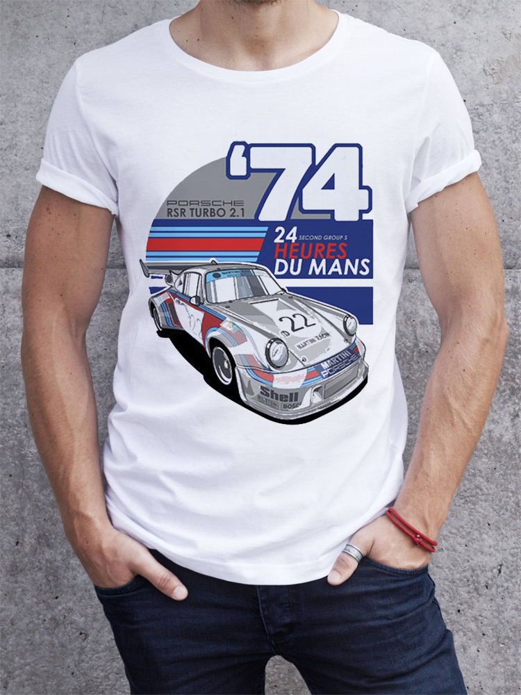 2019 Summer Men   T     shirt   Fashion Retro Cool Car Design Short Sleeve Cool Soft Hipster Tees Tops pb066