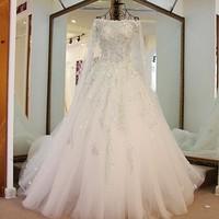 Custom Size 2016 New Design Lace Beading Vestido De Noiva Wedding Dresses Free Shipping TZ24