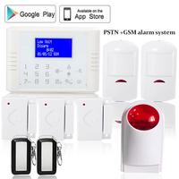 433mhz Wireless Quad Band GSM PSTN Dual Networks LCD Display Telephone Alarm System Home Security With