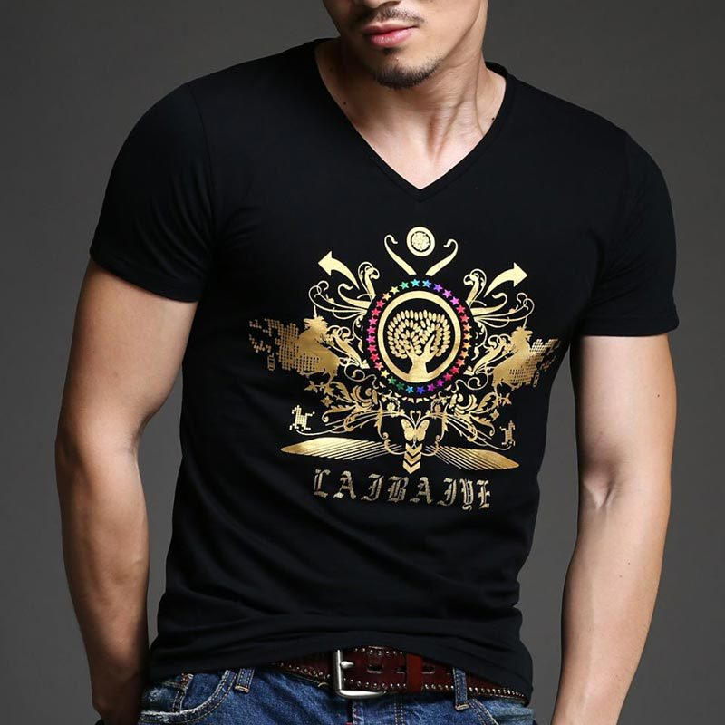Online Buy Wholesale Mens Black V Neck Shirts From China