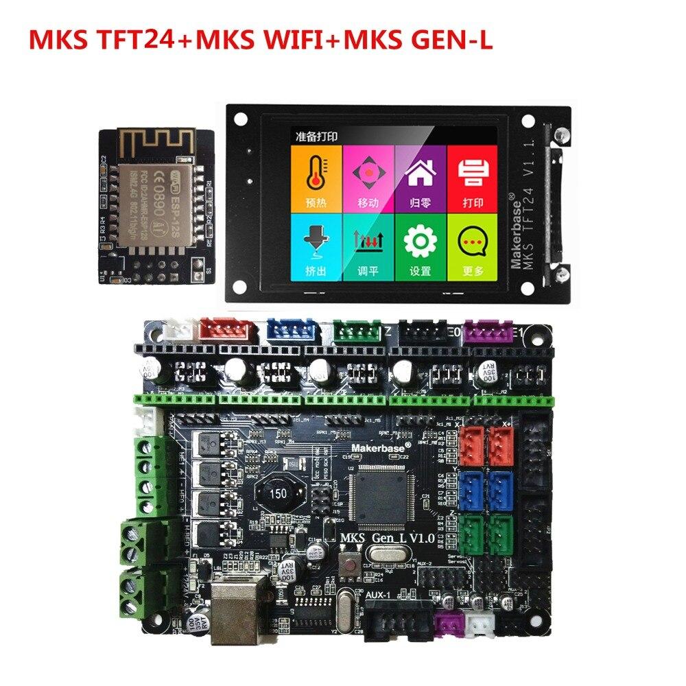 MKS GEN-L carte mère MKS TFT24 écran tactile TFT2.4 écran lcd MKS WIFI module 3D imprimante bouclier panneau de contrôle bricolage starter kit