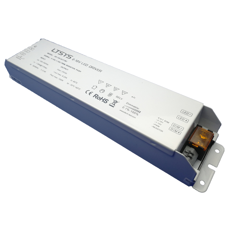 New AD-150-24-F1M1; 0/1-10V dimming driver;AC100-240V input;24V/6.2A/150W  output Constant Voltage Led Driver Free Shipping kvp 24200 td 24v 200w triac dimmable constant voltage led driver ac90 130v ac170 265v input