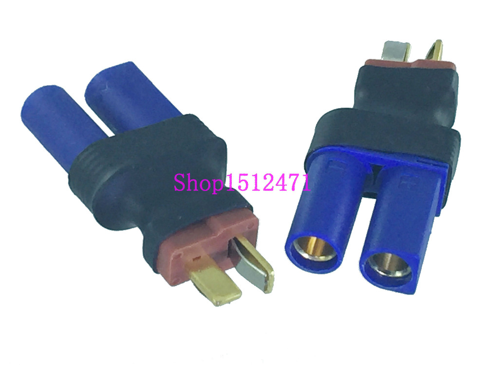 DIRECT CONNECT NO WIRE FEMALE EC5 TO MALE EC3 LIPO BATTERY CONNECTOR ADAPTER