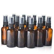 Vaporisateur en verre ambre, bouteille de pulvérisation, vaporisateur, désinfectant pour les mains, Gel, désinfectant, 12 pièces, 50ml