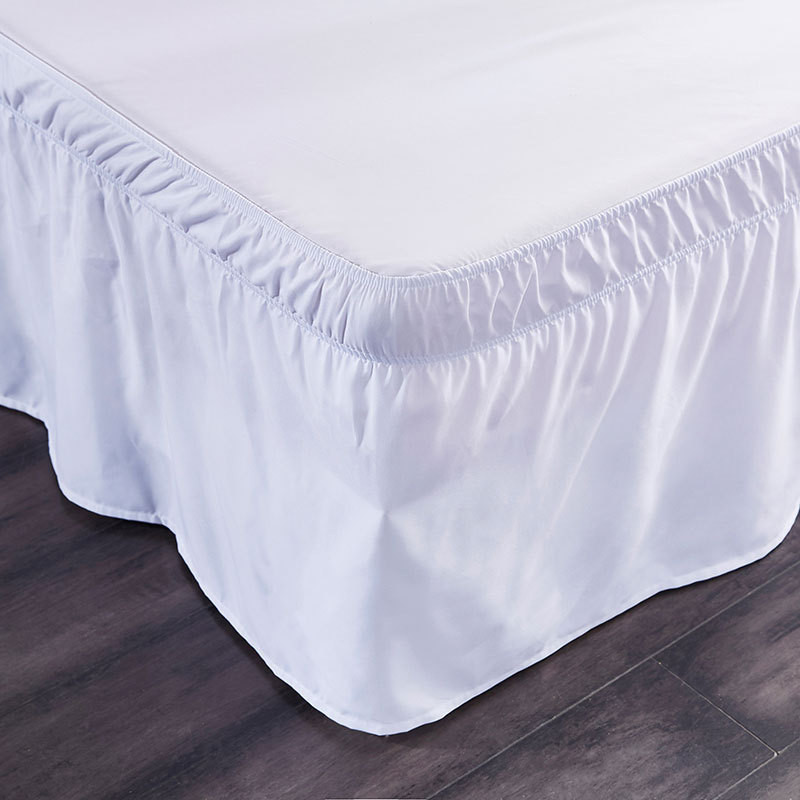 Bed Skirt Polyester Cloth King Queen Size Bed Covers Without Bed Surface Elastic Band Bed Skirts Ruffle Pastoral Style Bedspread