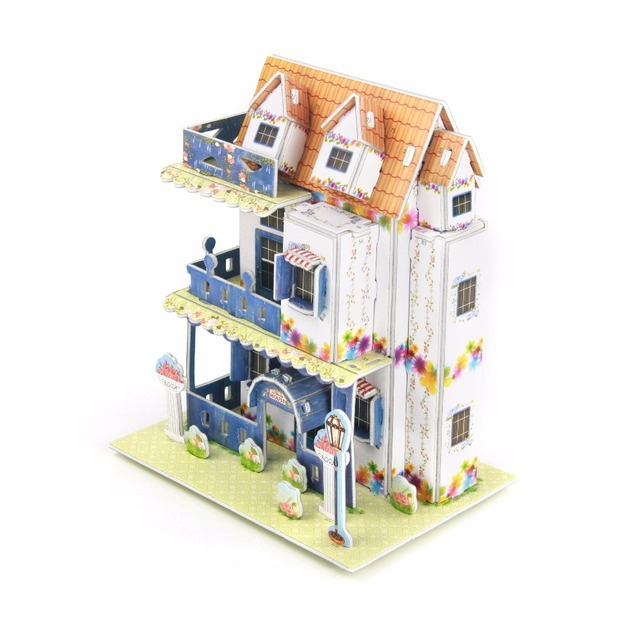 3d garden villa puzzle children hand make cute home building jigsaw